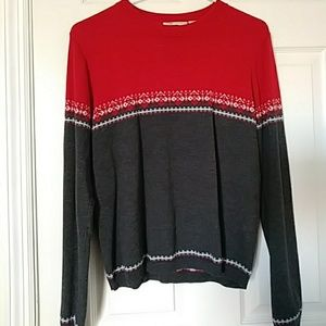 Red and gray sweater Large